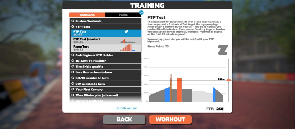 Zwift Ramp Test vs FTP Test 20min
